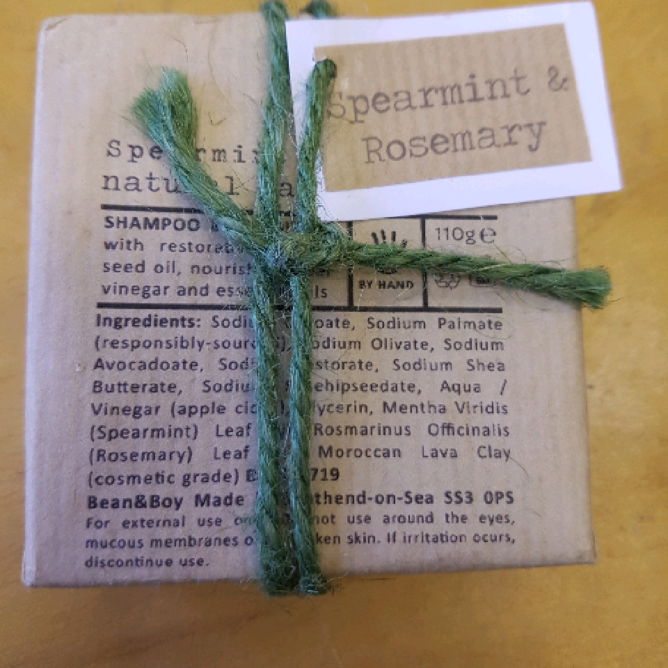 Spearmint and Rosemary-110g soap