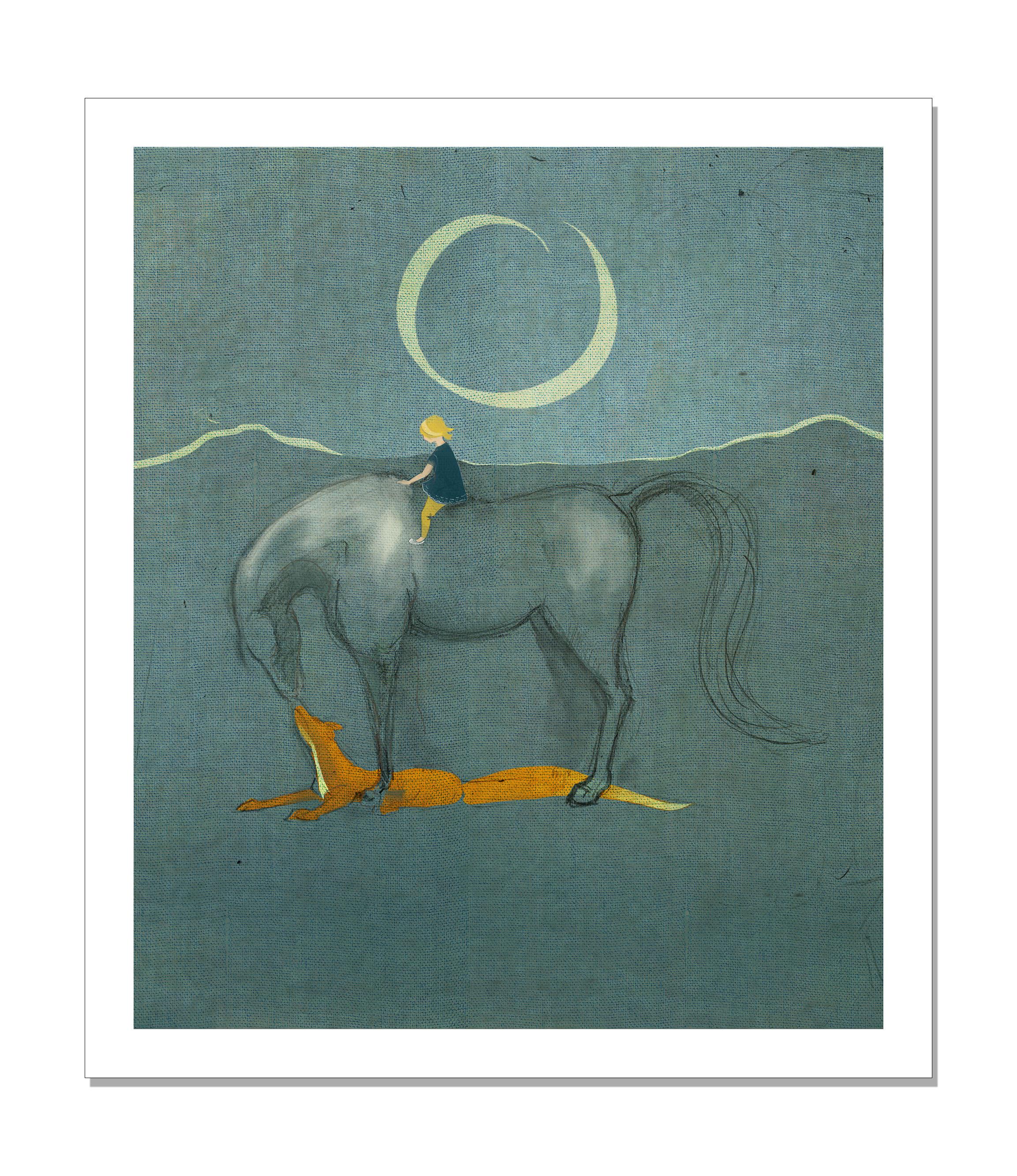 Flickan på häst