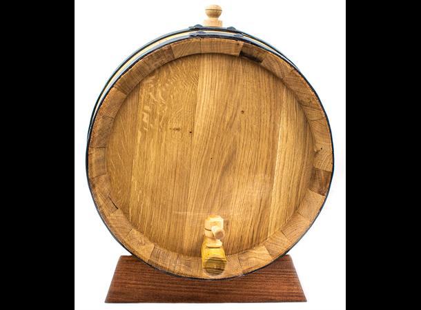 Eikefat 25 liter oak cask med tappekran og stativ