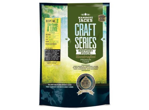 Elderflower & Lime Cider ekstraktsett Hylleblomst og Lime