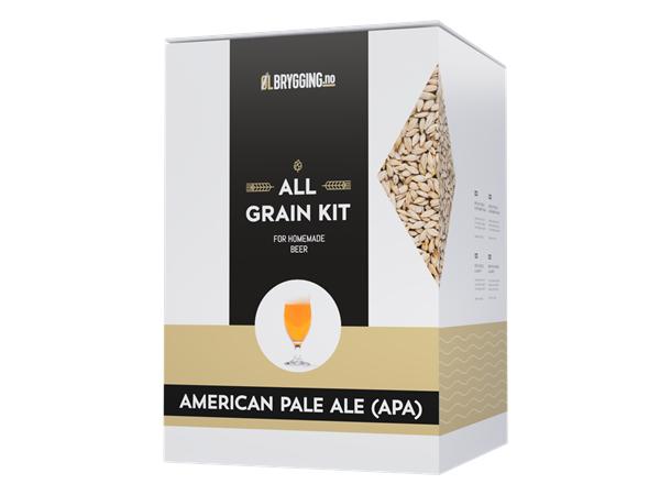 American Pale Ale (APA) allgrain ølsett Gyllen, fruktig og forfriskende pale ale