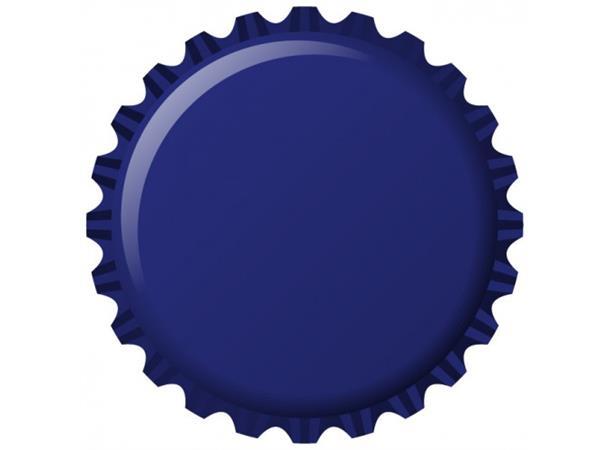 Flaskekapsler 26 mm, Blå Metallic 100 stk