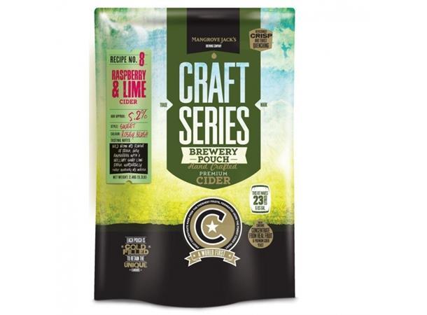 Raspberry & Lime Cider ekstraktsett Bringebær og lime