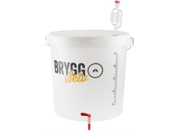 Gjæringsbøtte 30 liter med kran Inkludert lokk og gjærlås