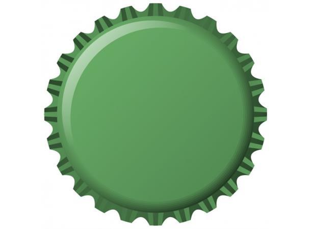 Flaskekapsler 26 mm, Grønn 100 stk