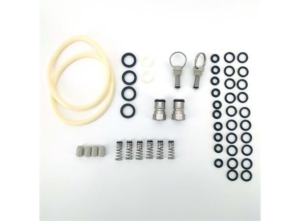 Reparasjons-kit for Cornelius fat reservedeler i praktisk oppbevaringsboks