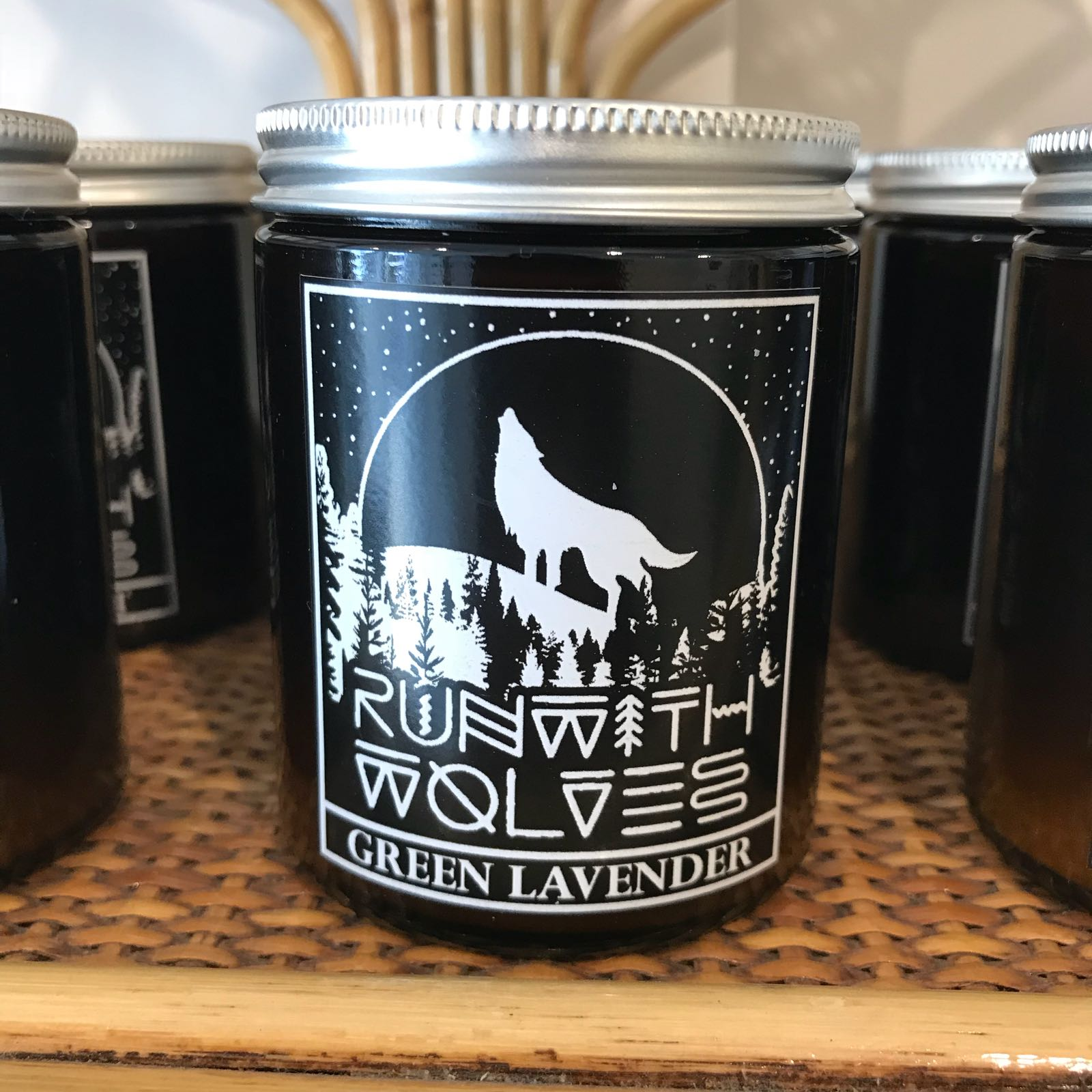 Green Lavender Soy Wax Candle
