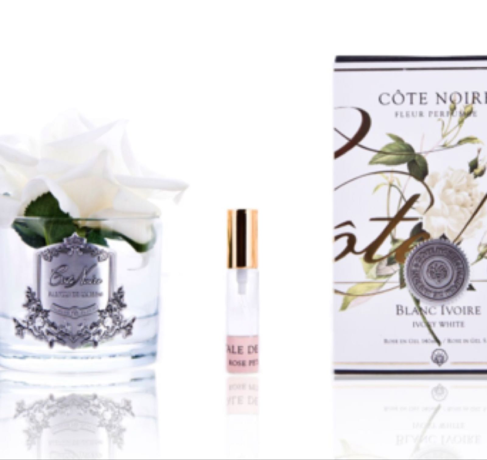Cote noire Ivory white rose medium with fragrance