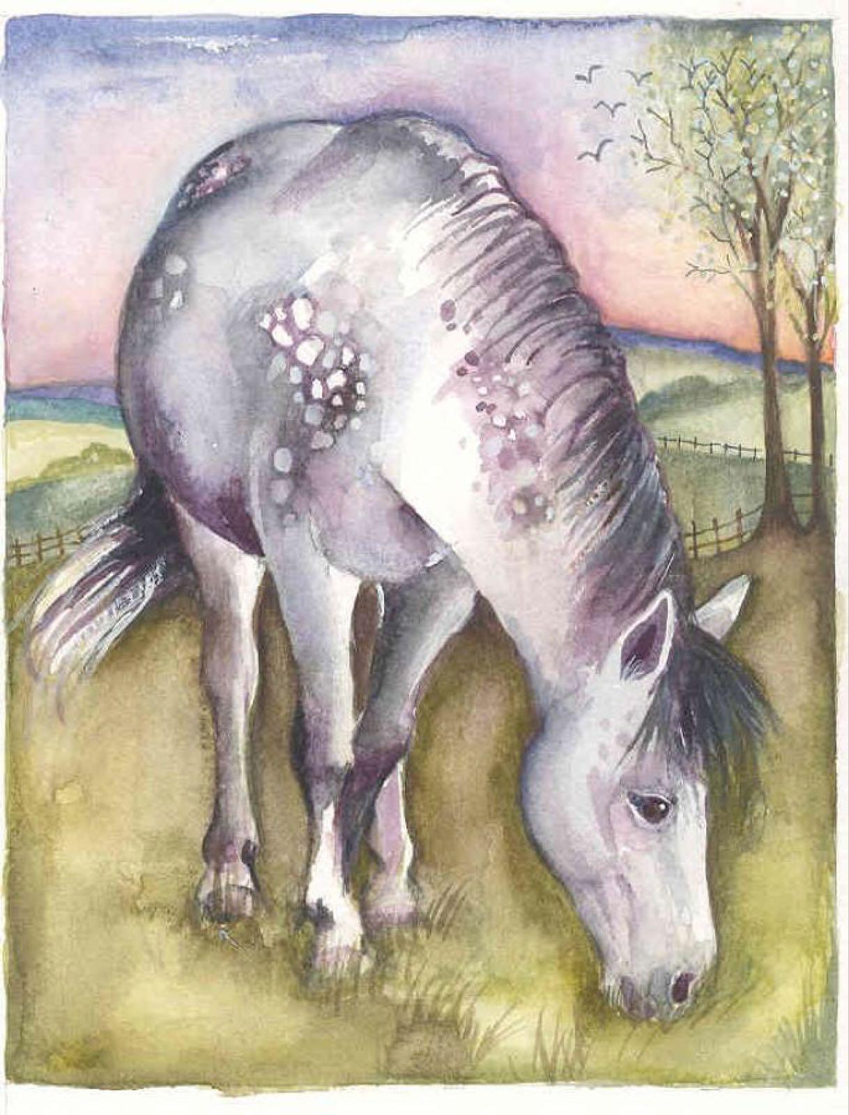 'Dappled Grey Pony' Furzedown Gallery Mini Card