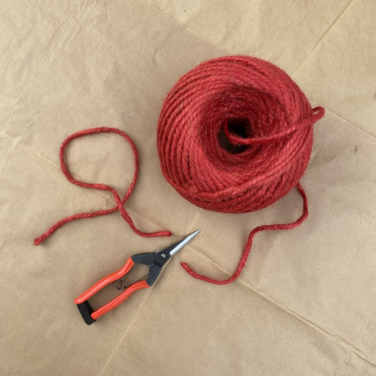 Natural Chunky Red Twine