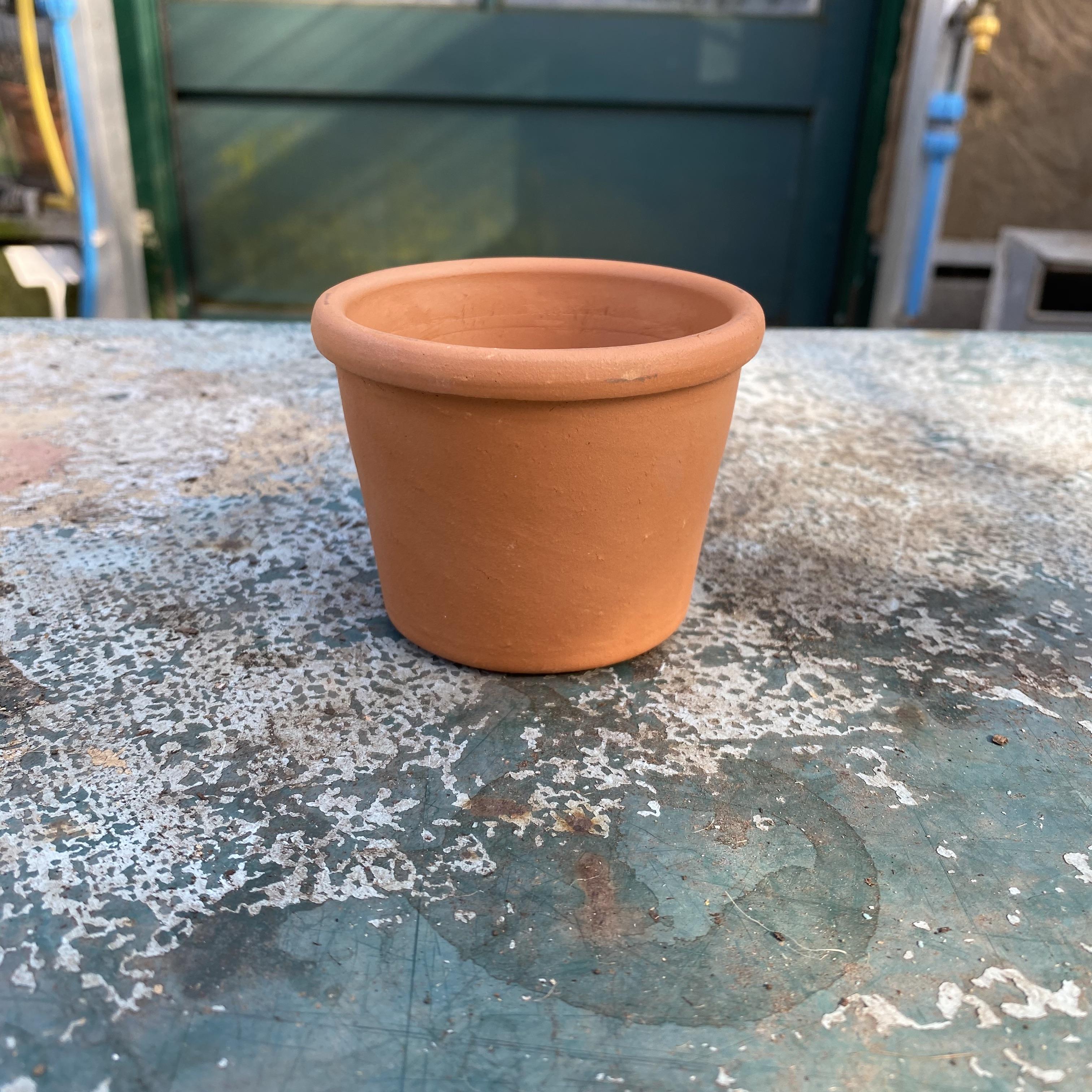 Roll Top Terracotta Cache Pot