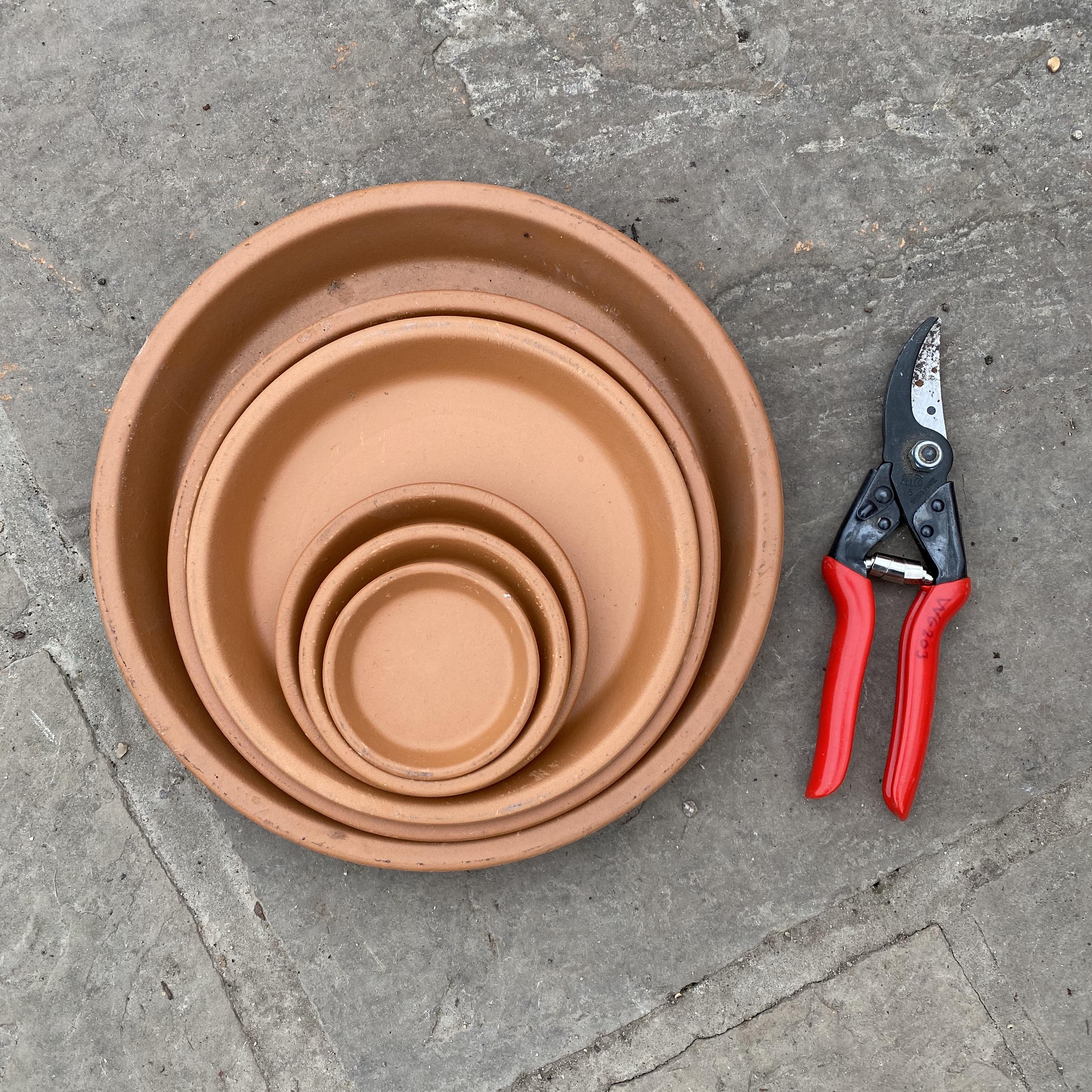 Terracotta Saucer - 12 Sizes