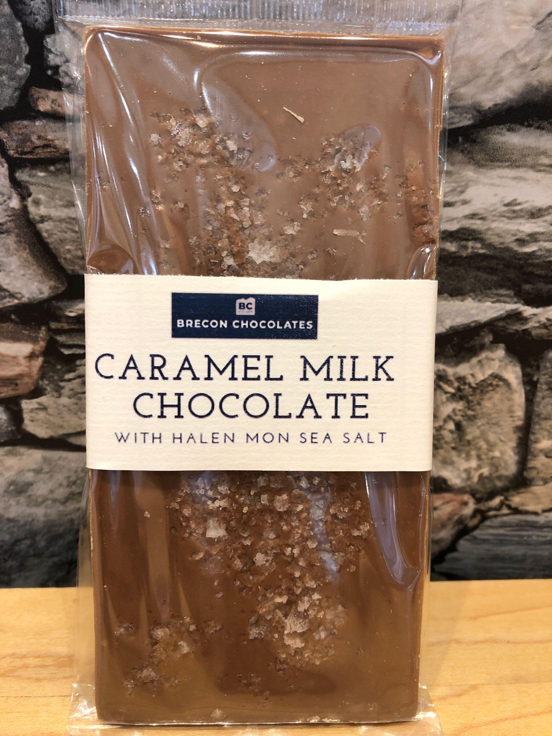 Caramel Milk Chocolate & Sea Salt Chocolate Bar 100g