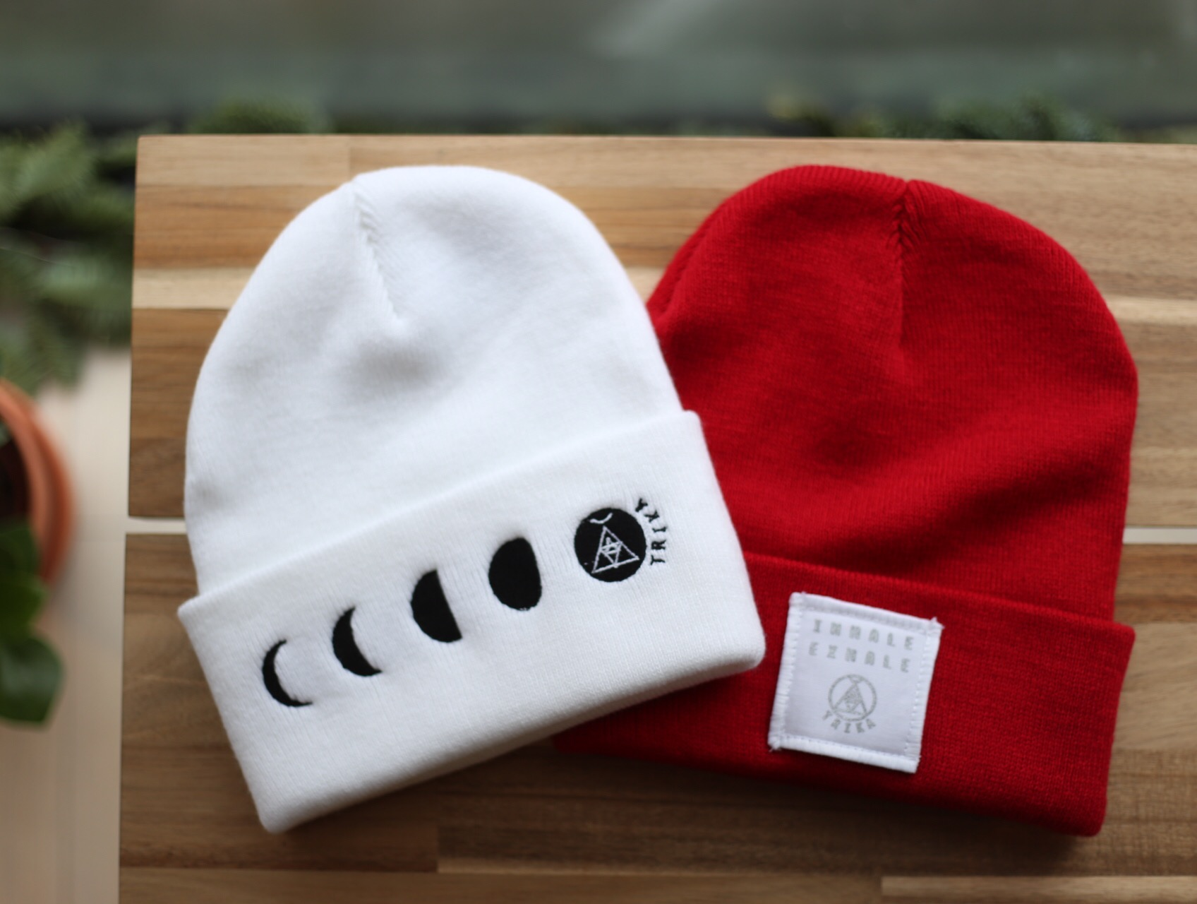 White Moon Phase Beanie *Last one!*