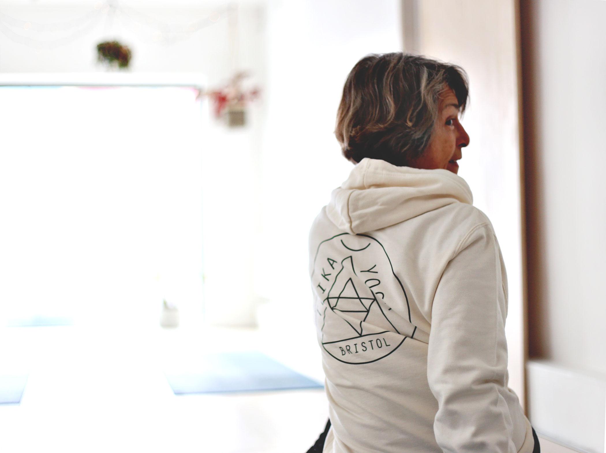 Logo Hoodie in Vanilla