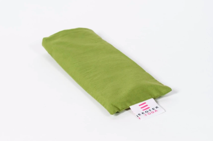 Organic Cotton Eye Pillow with Flaxseed and Dry Lavender