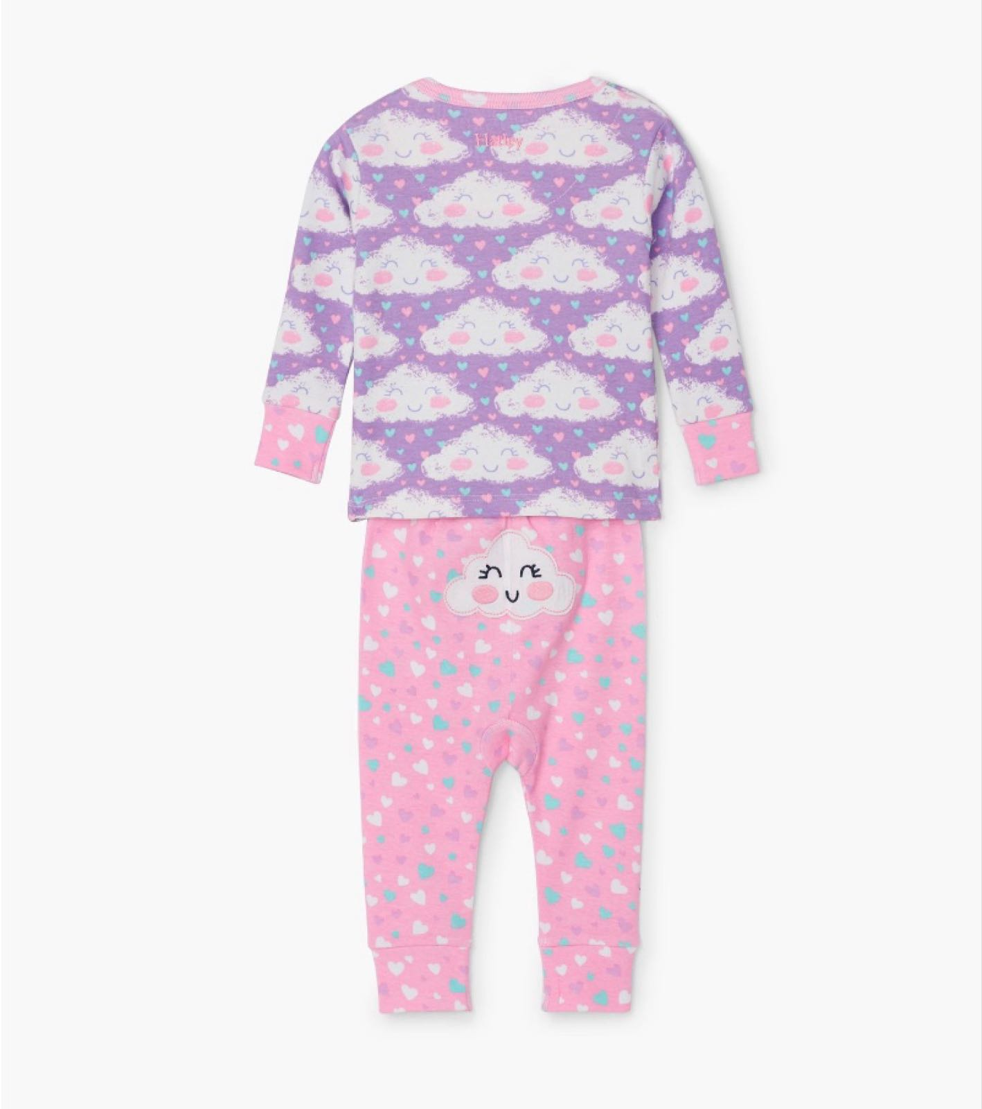 Hatley Cheerful Clouds Organic Cotton Baby Pyjamas
