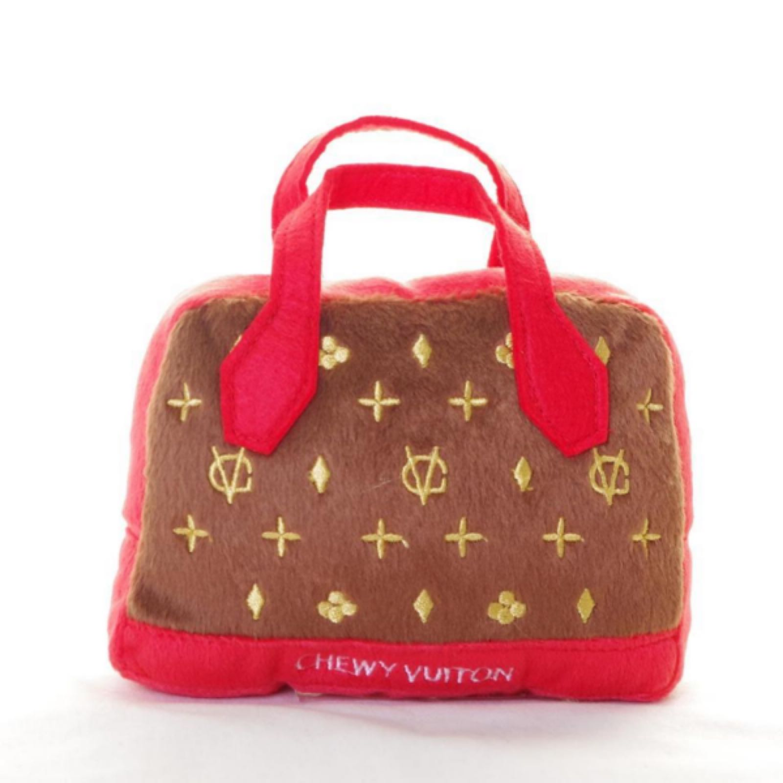 Chewy Vuiton bag red