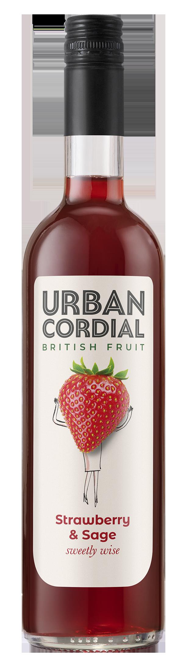Strawberry & Sage Cordial by Urban Cordials 500ml