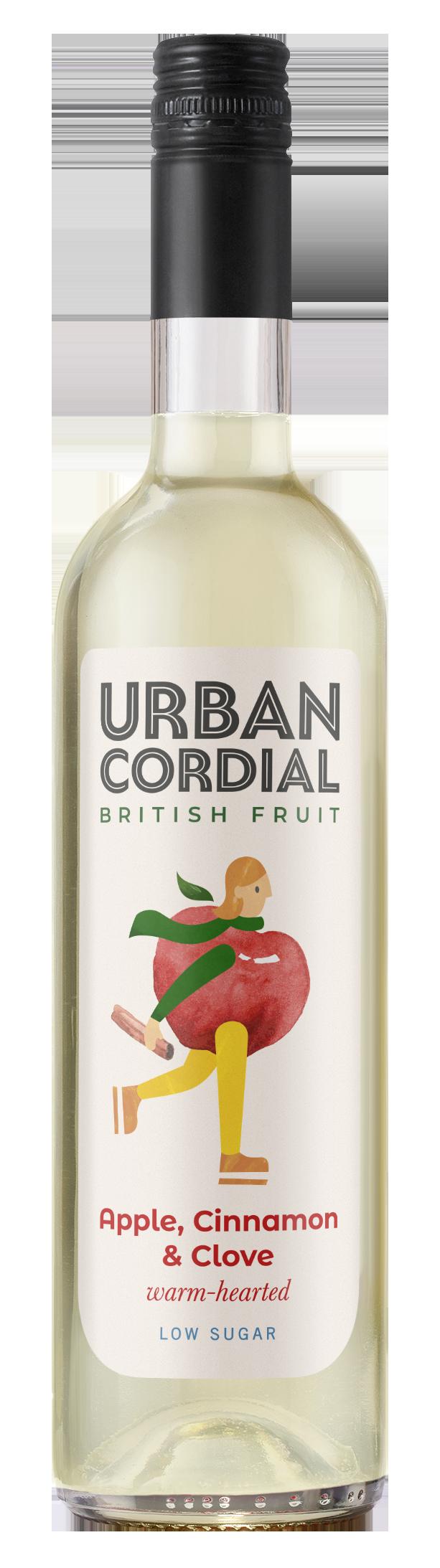 Apple, Cinnamon & Clove Cordial from Urban Cordials 500ml