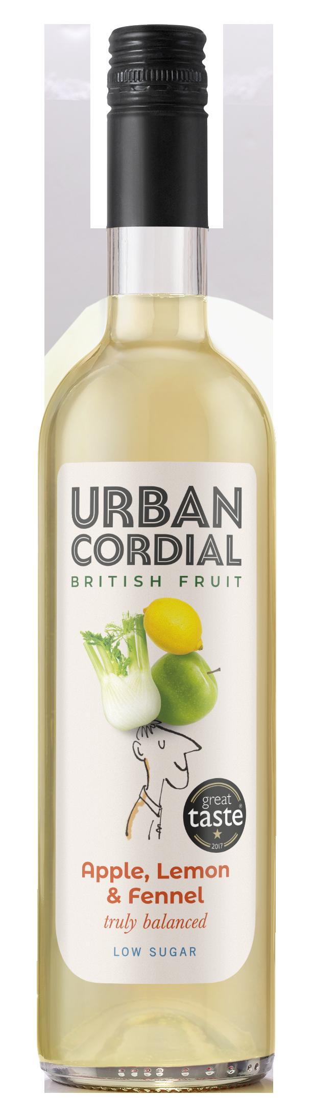 Apple, Lemon & Fennel Cordial from Urban Cordials 500ml