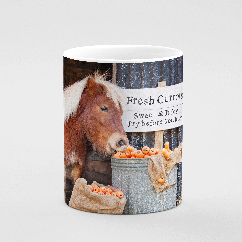 Fresh Carrots - Try Before You Buy - Shetland Pony Mug - Kitchy & Co
