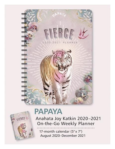 PAPAYA - Fierce - 2021 Weekly Planner - Anahata Joy Katkin