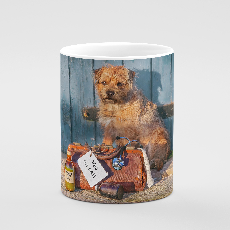 Vet On Call - Border Terrier Mug - Kitchy & Co