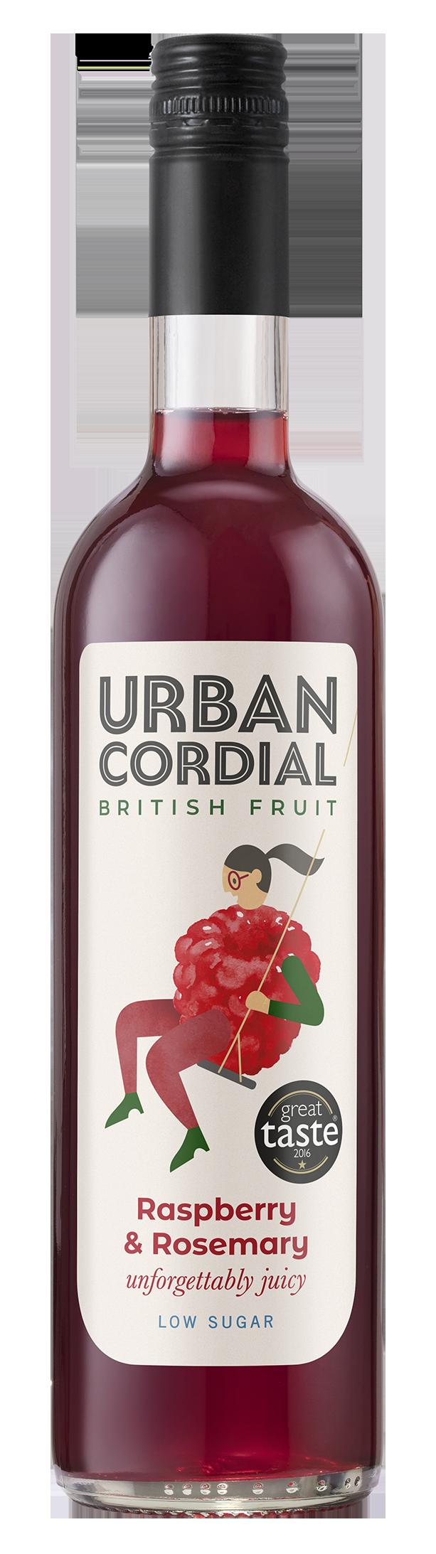 Raspberry & Rosemary Cordial by Urban Cordials 500ml