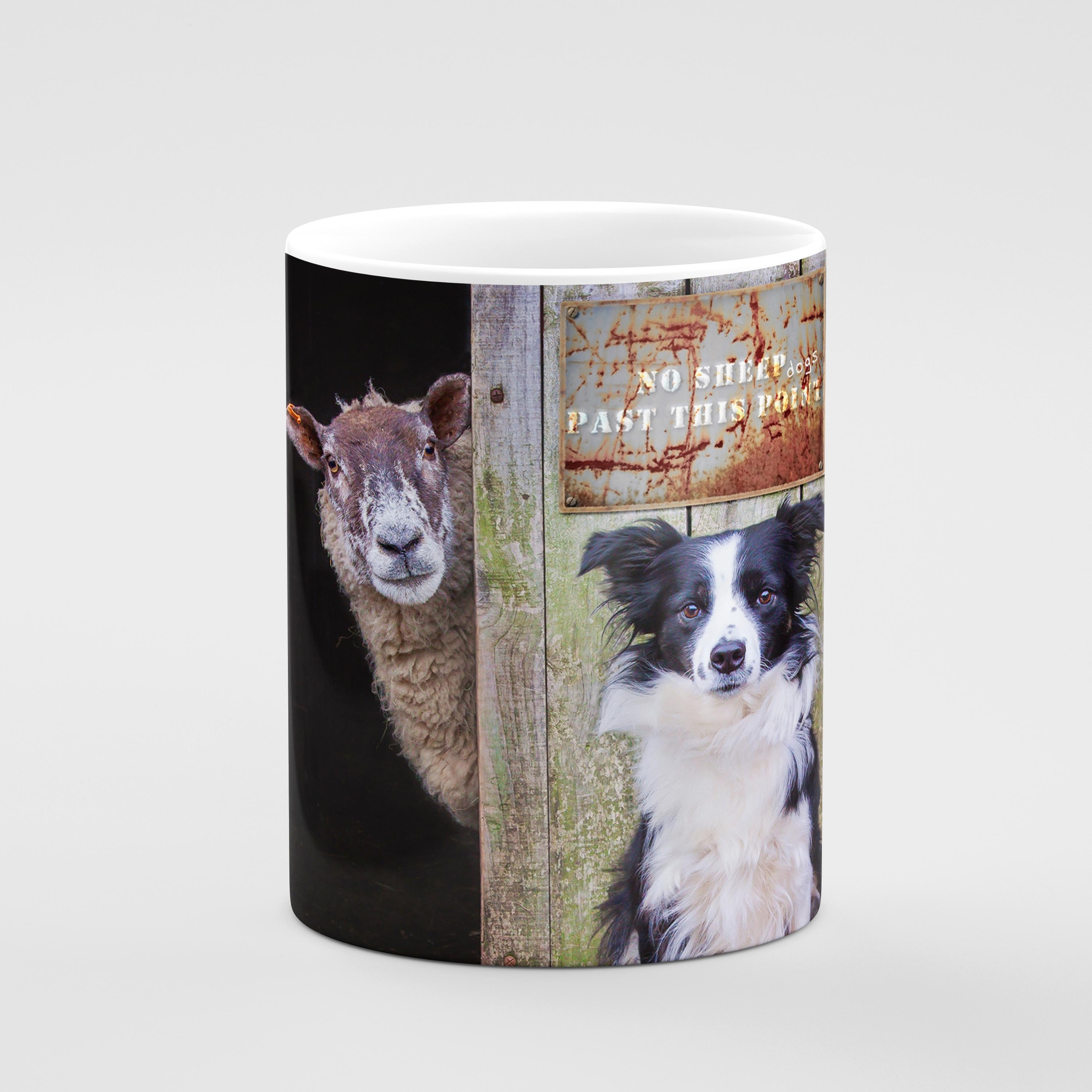 She's Behind Ewe - Border Collie and Sheep Drinks Coaster - Kitchy & Co