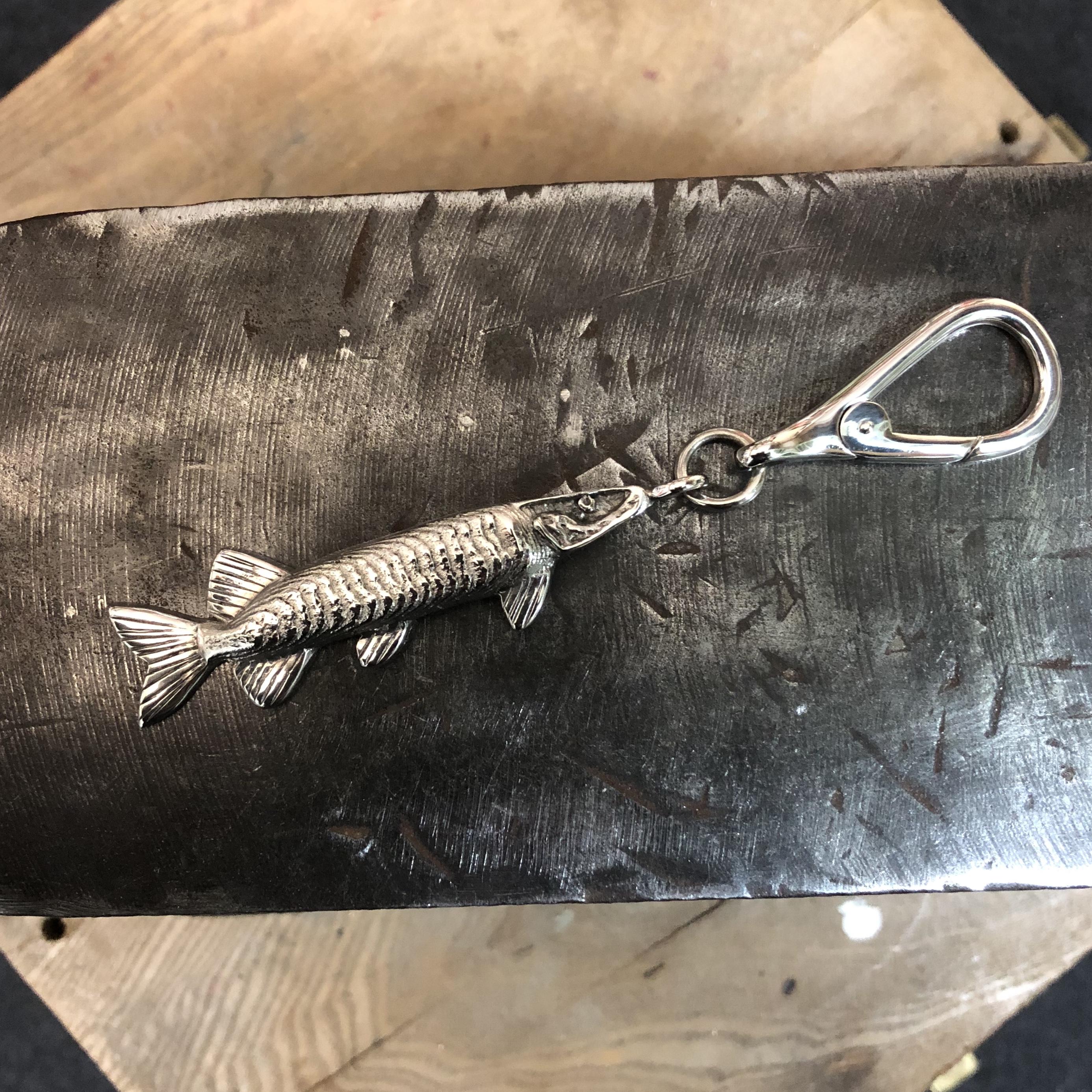 925 SILVER FISH KEYRING