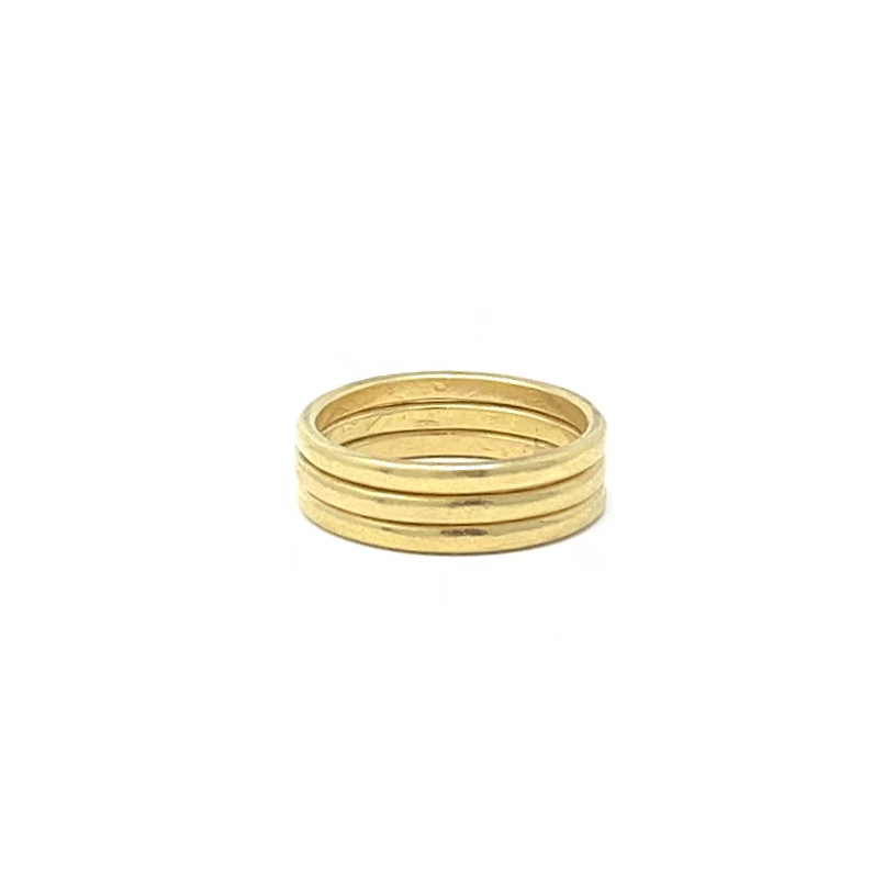 22ct Solid Yellow Gold Stacking Rings