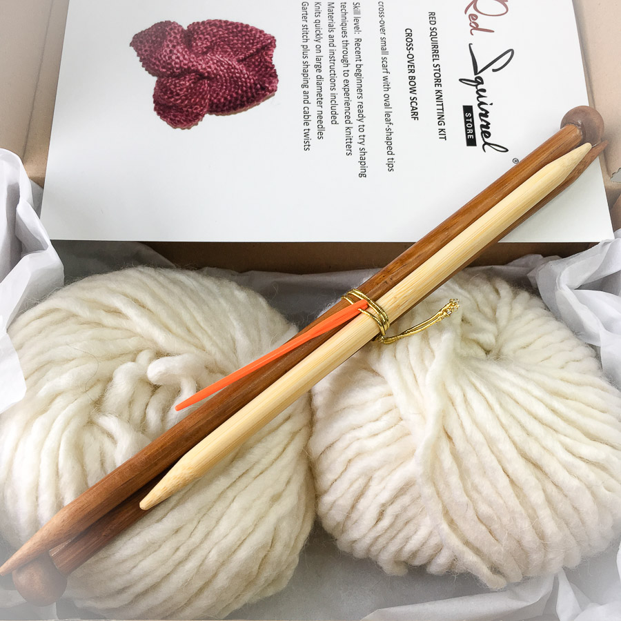 Knitting Kit - Double Kit: Sideways Hat & Cross-over Small Scarf