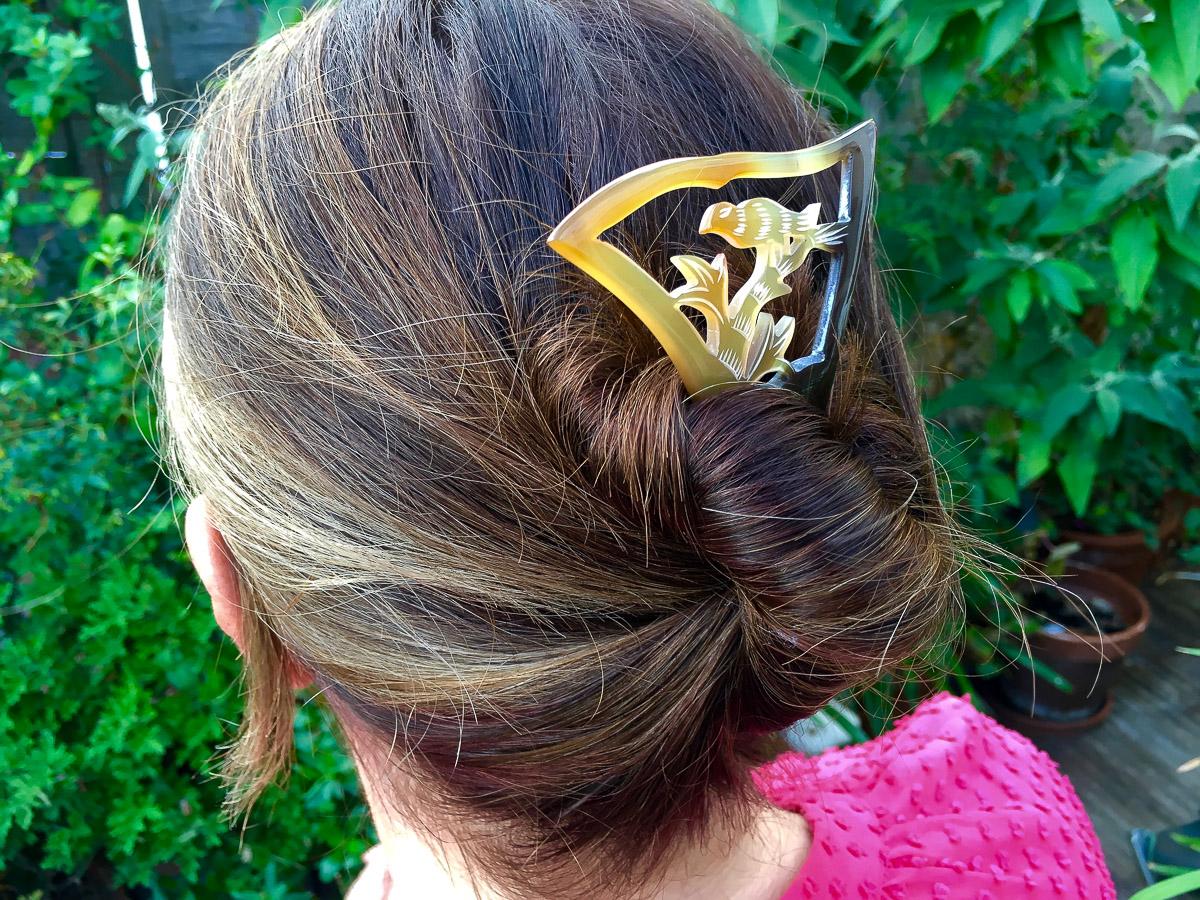 Fan Frame Bird Hairpin