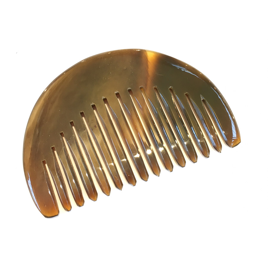 Demi-Lune Wide Tooth Horn Comb