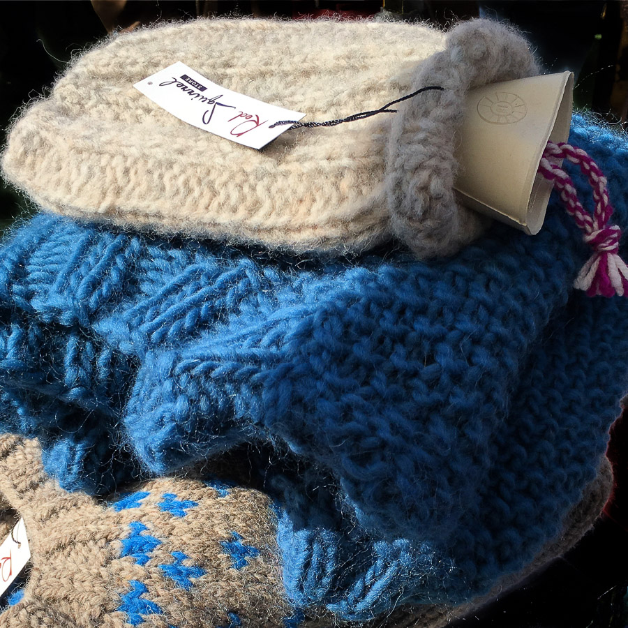 Mini Hot Water Bottle & Cover Fawn