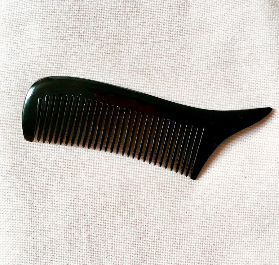 Swoop Point Fine Horn Comb