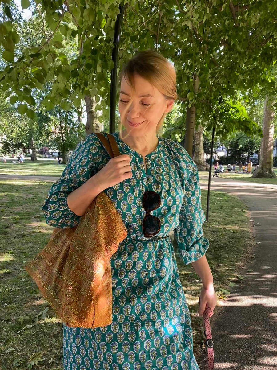 Pastoral Dress - Garden Green