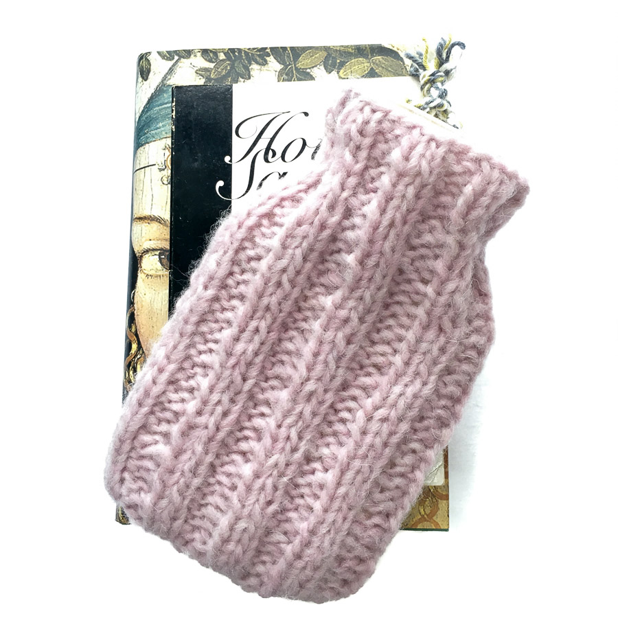 Mini Hot Water Bottle & Cover Sugar Almond Pink