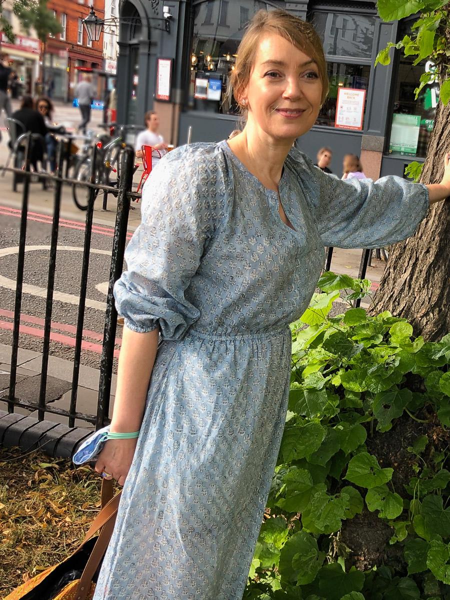 Pastoral Dress - Grey Blue