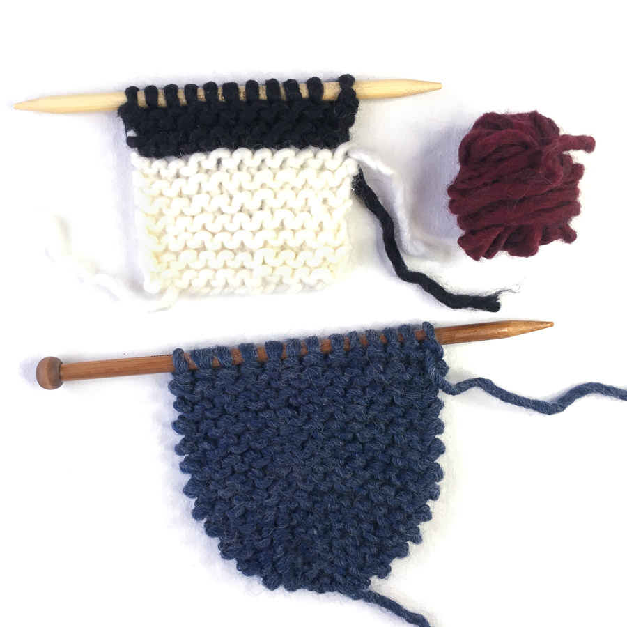 Knitting Kit - Cross-over Small Scarf