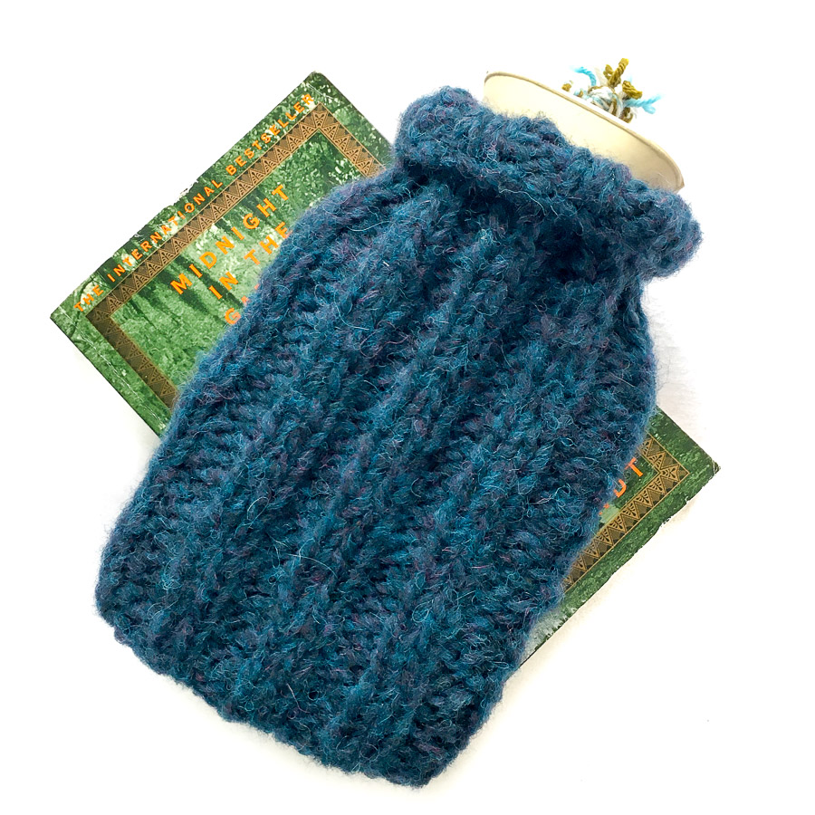 Mini Hot Water Bottle & Cover Teal