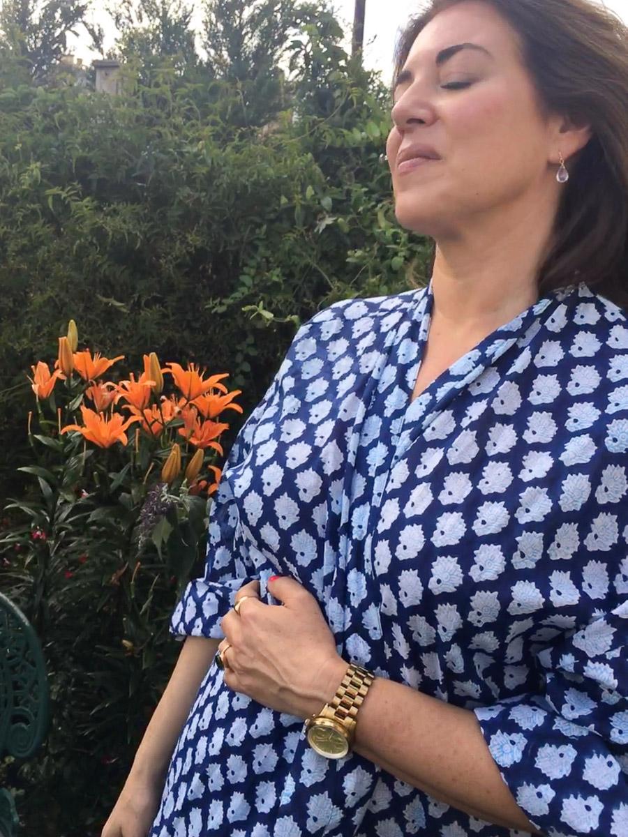 Big Yukata Kimono - Indigo Blue Motif