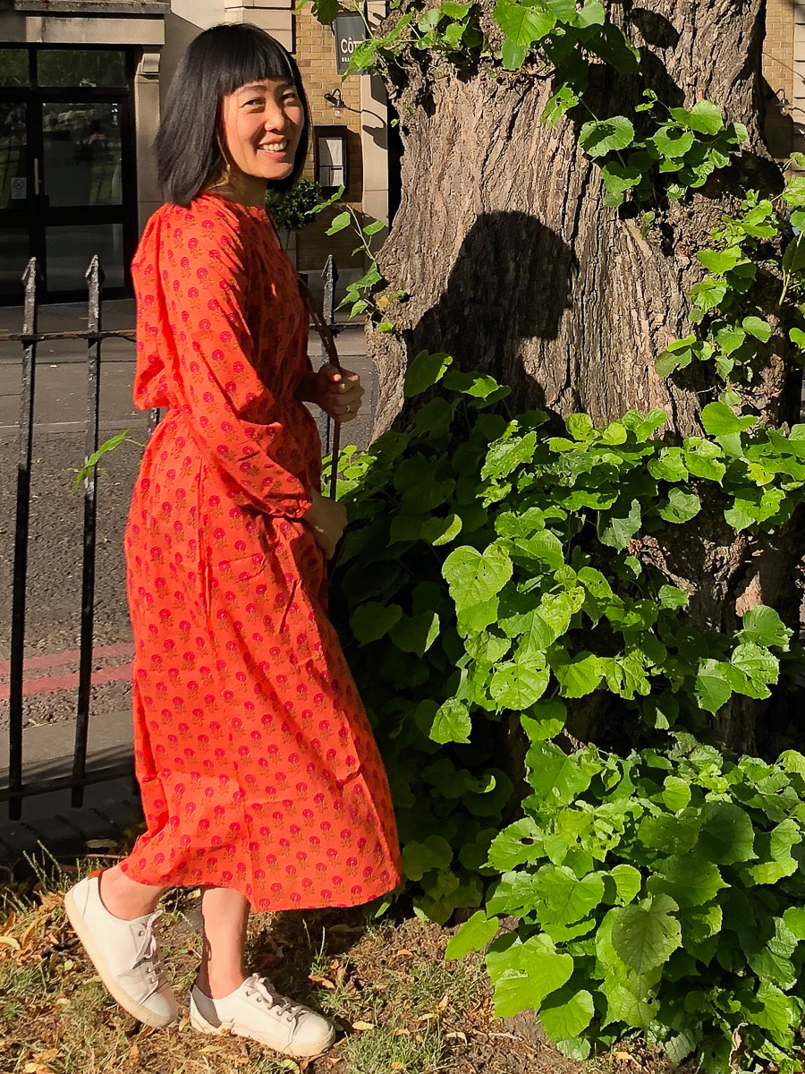 Pastoral Dress - Flame Red