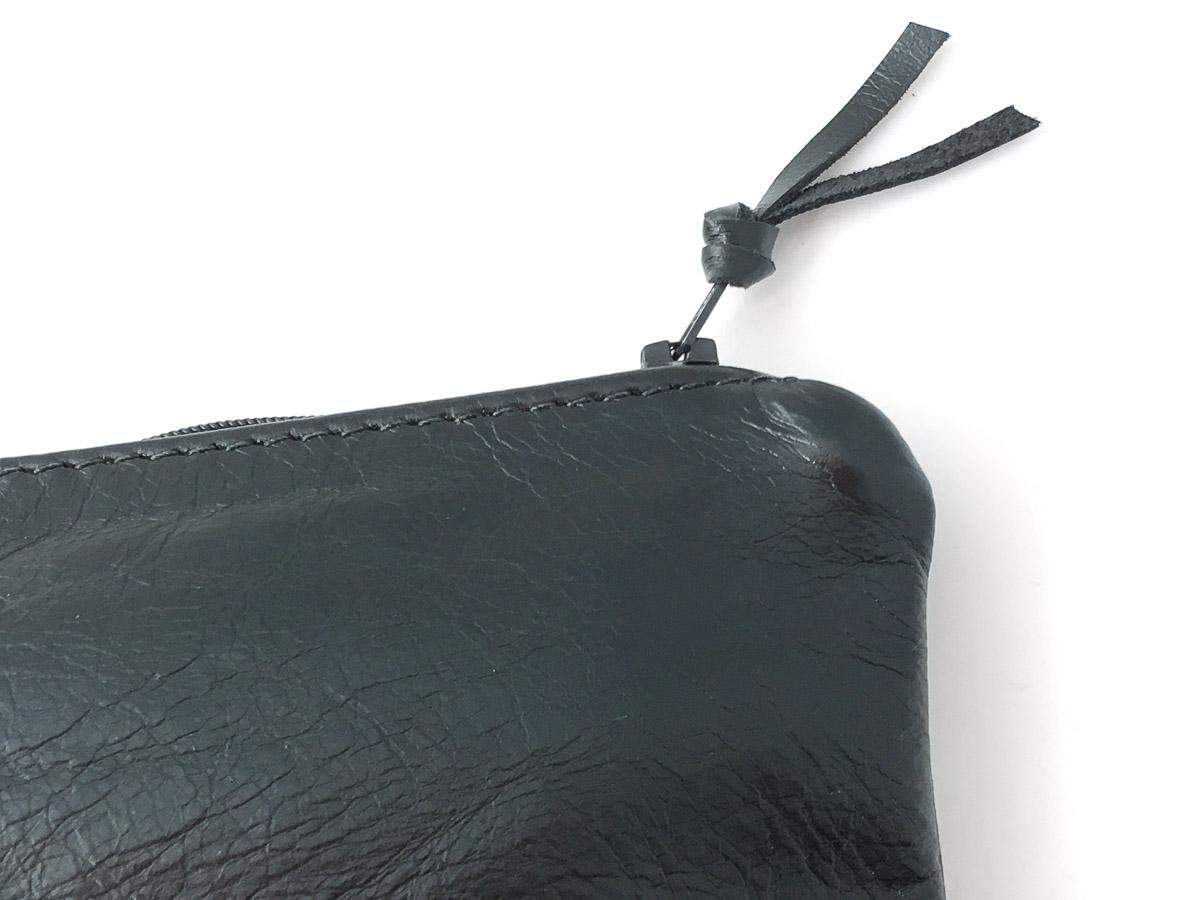 Leather 'Essentials' Zip Purse Black