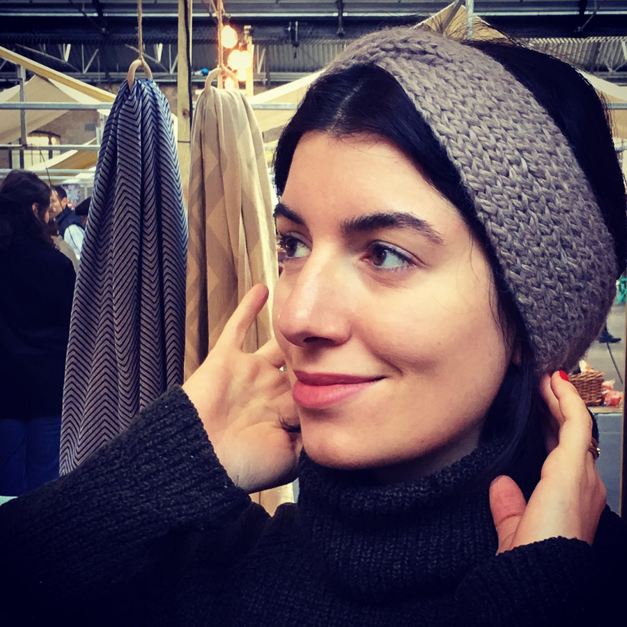 Handknit Baby Alpaca Bandeau Headband Fawn