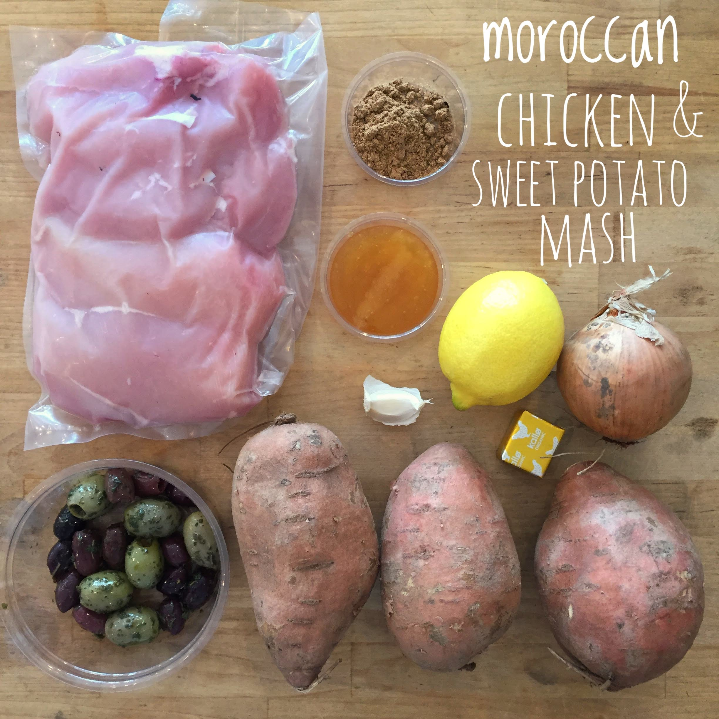 Moroccan Chicken and Sweet Potato Mash Meal Bag