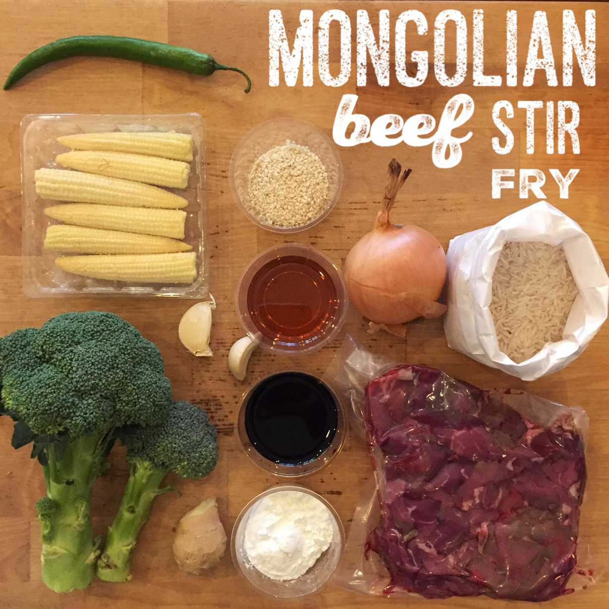 Mongolian Beef Stir Fry Meal Bag