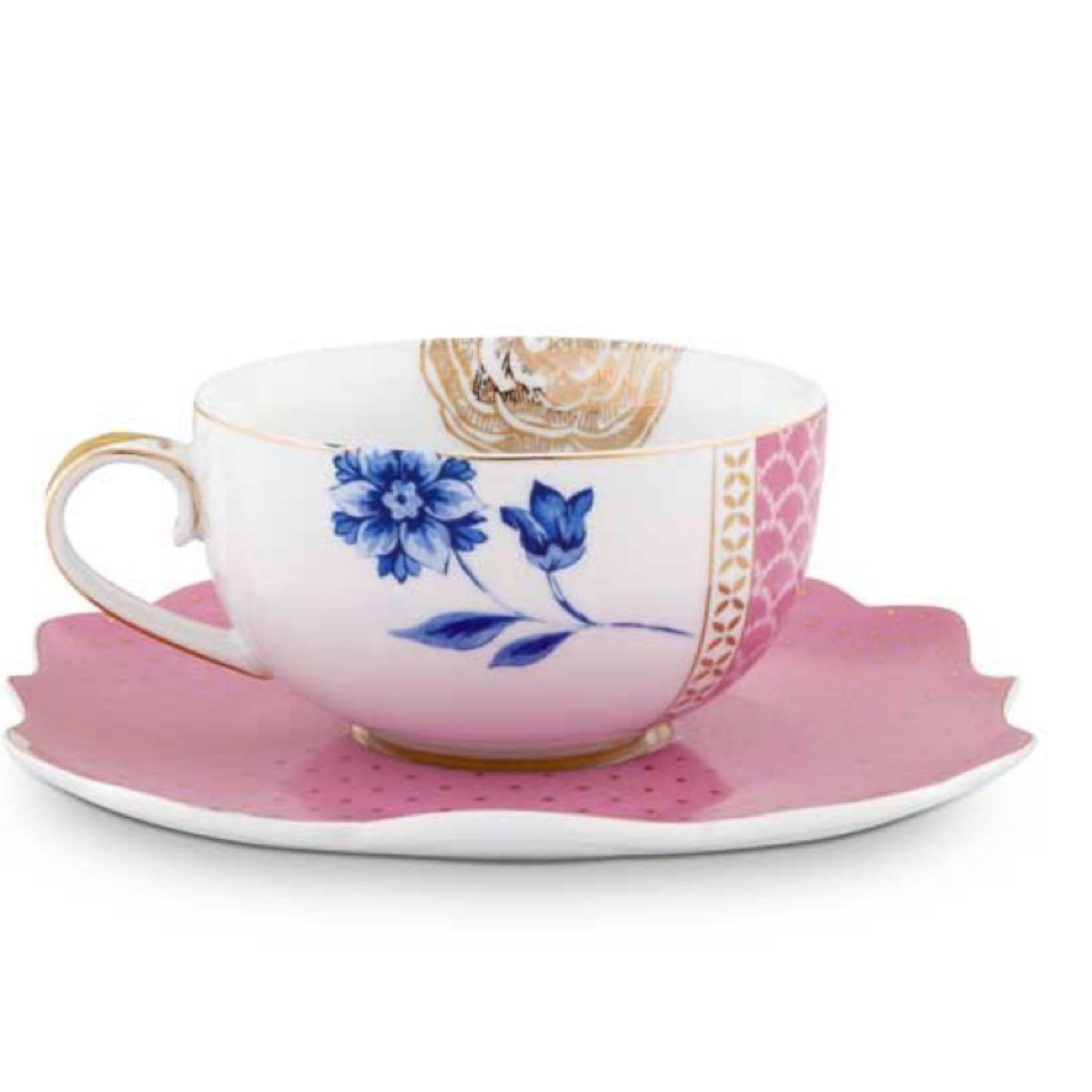 Pip studio tea cup & saucer royal pink