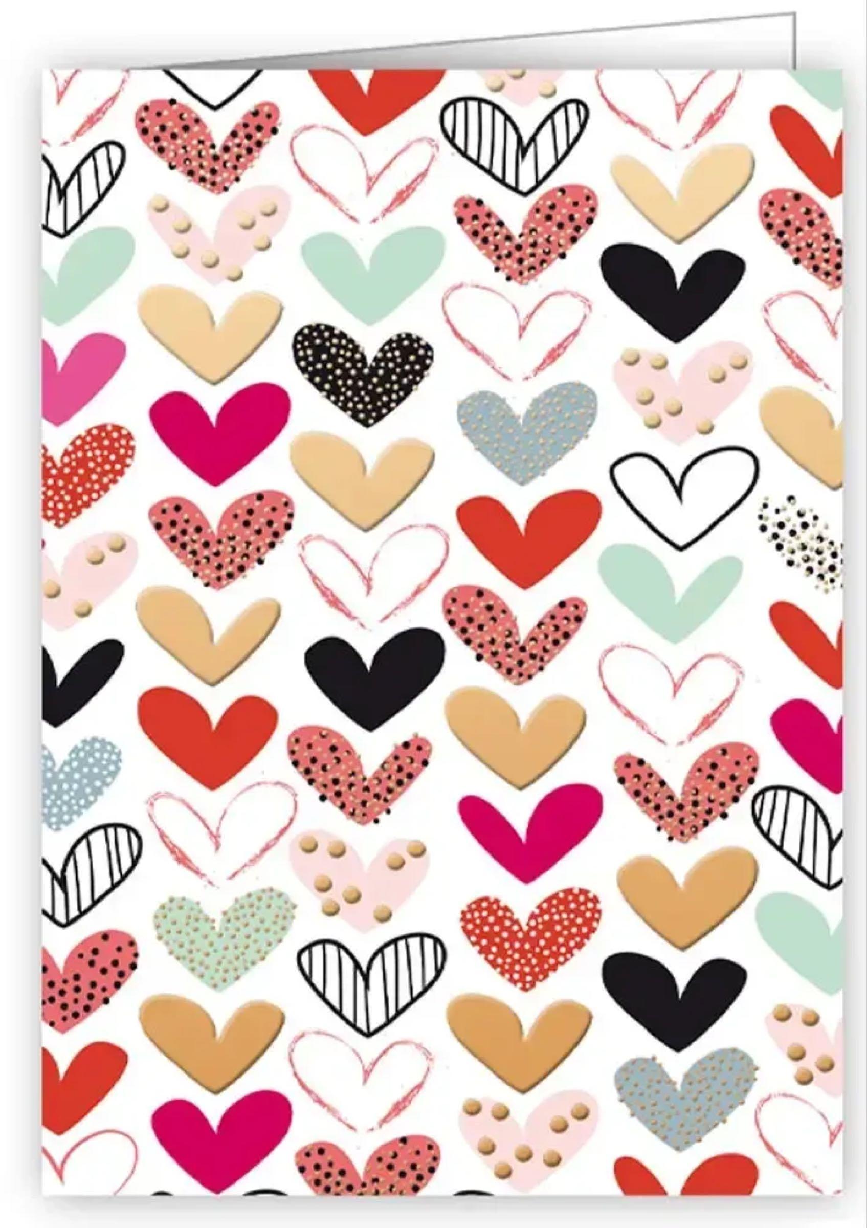 Beautiful Hearts  mini greetings card